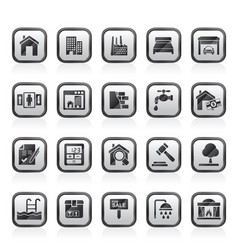 Real estate services icons vector