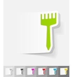 Realistic design element brush vector