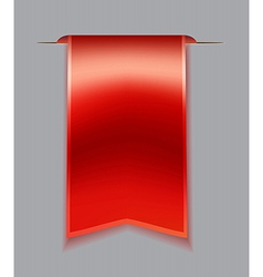 Red bookmark ribbon vector