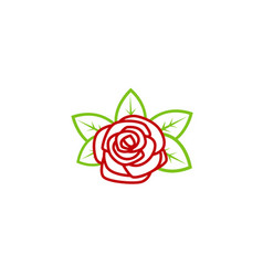 red rose nature lotus logo vector image