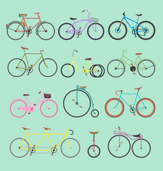 retro bike vintage old-fashioned girls and vector image
