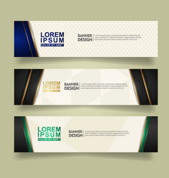 Set abstract banner template design with luxury vector