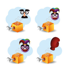 set crazy things to fools day vector image