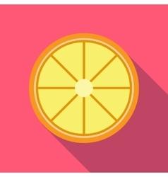 Slice lemon icon flat style vector