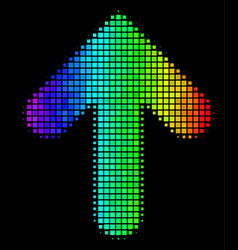 Spectrum dot arrow up icon vector