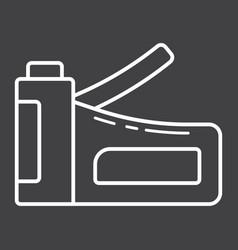 Staple gun line icon build and repair stapler vector