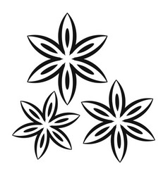 Star anise icon simple style vector