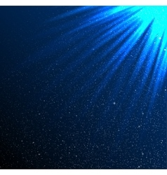 Stars sky night Blue rays Glare vector