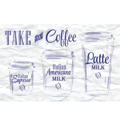 Take a coffee ink vector image