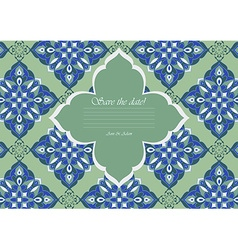 Template color mandala in Italian majolica style vector