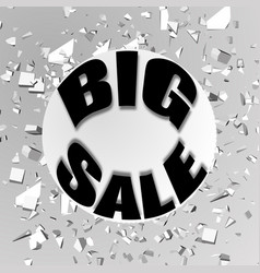 the inscription big sale against the background vector image