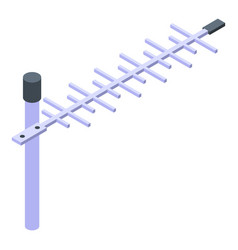 Tv antenna icon isometric style vector