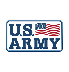 Us army emblem flag america armed forces of vector