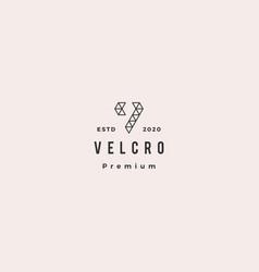 v letter colorful triangle logo hipster retro vector image