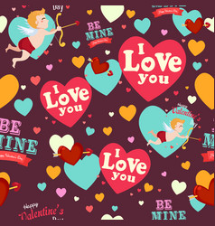 valentine day wallpaper seamless pattern vector image