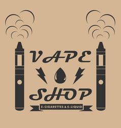 vape shop emblem template style emblem with vector image