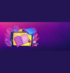 video tutorial header banner vector image