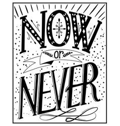 vintage lettering vector image
