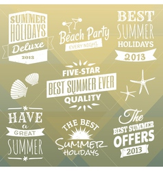 Vintage Summer Design Elements Collection vector image