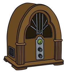 Vintage tube radio vector