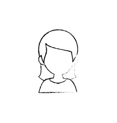 woman cartoon profile vector image