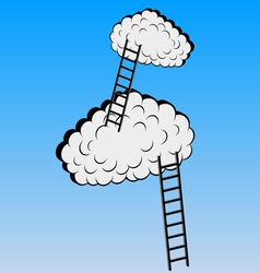 Clouds with stairs vector image vector image