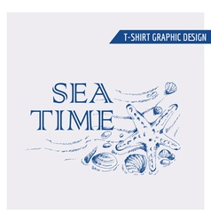 Nautical Beach Graphic Design - for t-shirt vector image vector image
