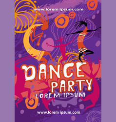 party poster background template vector image