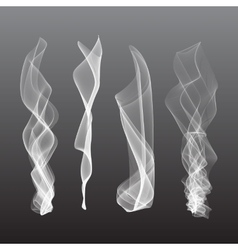 Smoke background steam isgenerated liquidolated vector image vector image