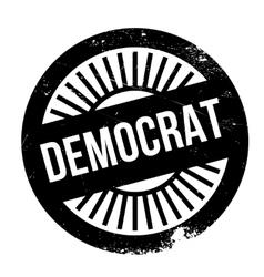 Democrat stamp rubber grunge vector image