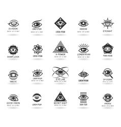 Eye logos set vector image