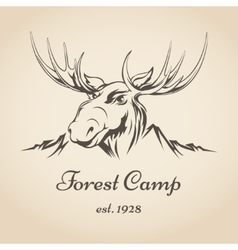 Forest camp logo vector image