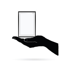 photo frame in black hand vector image