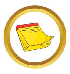 Yellow notebook icon vector image