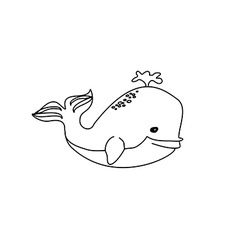 Cute Whale - vector image