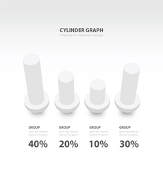 cylinder infographic 3d graph template white color vector image