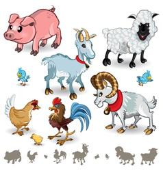 Farm Animals Collection Set 01 vector image