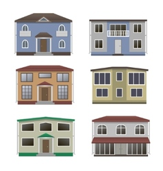 Home icon collection vector image vector image