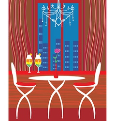modern dining room vector image