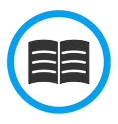 Open Book Rounded Icon vector image