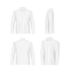 white mens shirt mockup set realistic vector image