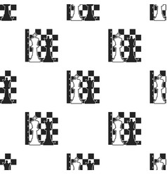 chess icon in black style isolated on white vector image
