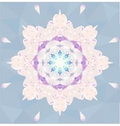 Circle lace ornamental snowflake vector image