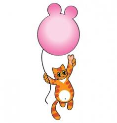 happy kitten vector image vector image