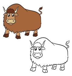 yak for Coloring book vector image vector image