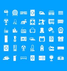 appliances icon blue set vector image