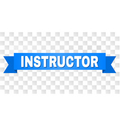Blue stripe with instructor caption vector