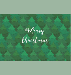 bright background with coniferous forest and text vector image