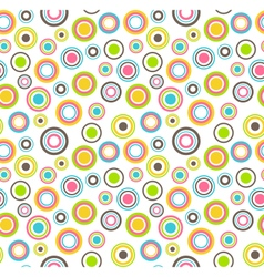 Bright fun abstract seamless pattern with vector image vector image