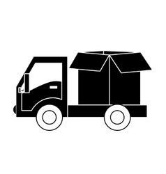 Cargo shipping or handling related icons image vector